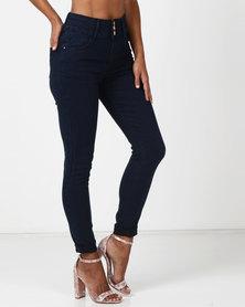 Legit 3 Button Highwaist Skinny Jeans Ink