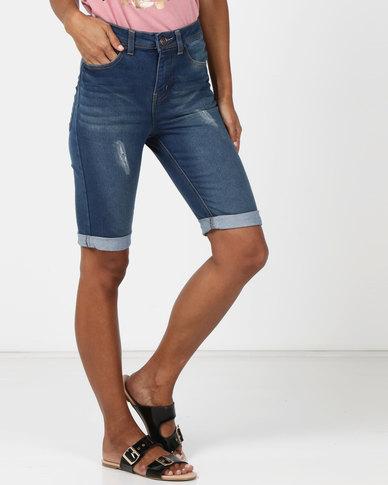 Legit Denim Bermuda Shorts Stonewash