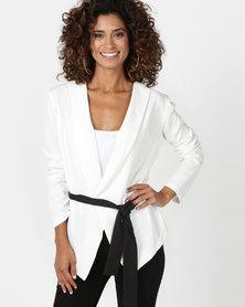 Legit Colour Block Unlined Jacket White