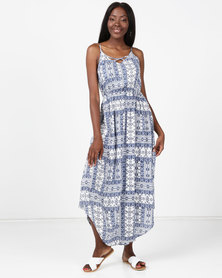 Rip Curl Ishka Maxi Dress Blue