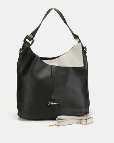 Seduction Two Tone Shopper Bag Black
