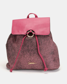 Seduction Textured Backpack Berry