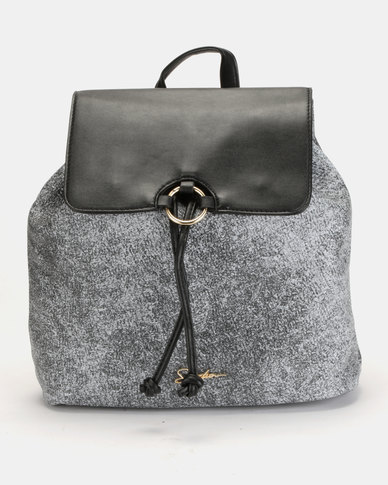 Seduction Textured Backpack Black