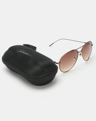 a2bb0afd4cf Zando. Seduction Aviator Sunglasses Brown