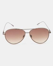 Seduction Aviator Sunglasses Brown