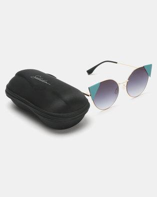 c92be74590f Seduction Statement Cateye Sunglasses Pewter