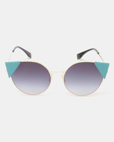 Seduction Statement Cateye Sunglasses Pewter