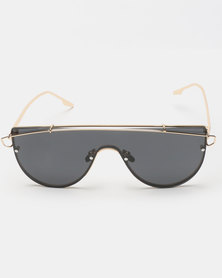 Seduction Extra Gold Framed Sunglasses Pewter