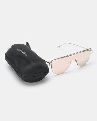 8a3bc2f5c3e Seduction Extra Gold Framed Sunglasses Pink