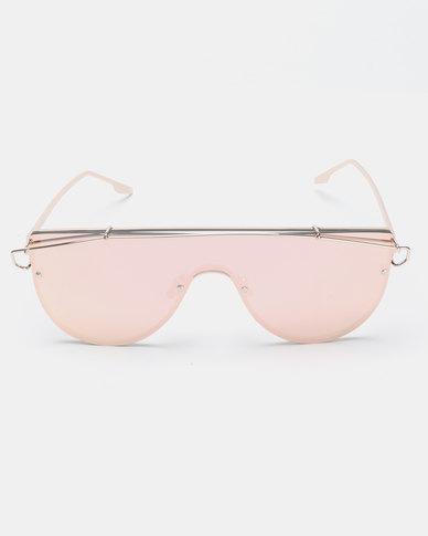 Seduction Extra Gold Framed Sunglasses Pink