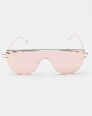 Seduction Extra Gold Framed Sunglasses Pink