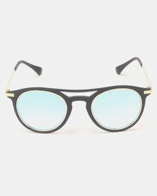 Seduction Sunglasses Gold/Blue