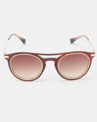 6d6a63c5cf4 Seduction Sunglasses Gold Brown