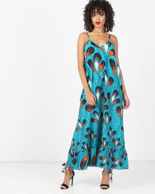 Kieke Maxi Dress Blue Multi