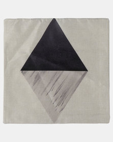 Royal T Triangle Linen Cushion Cover Brown