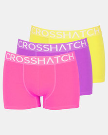 Crosshatch Glowbox Basic 3pk Bodyshort Multi