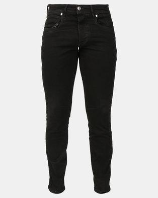 Crosshatch Balt Stretch Slim Fit Jeans Black