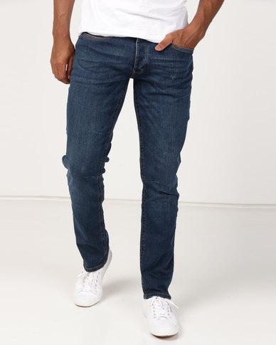 Crosshatch Balt Stretch Slim Fit Jeans Dark Wash