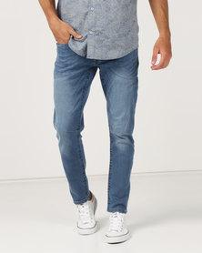 Crosshatch Balt Stretch Slim Fit Jeans Medium Wash