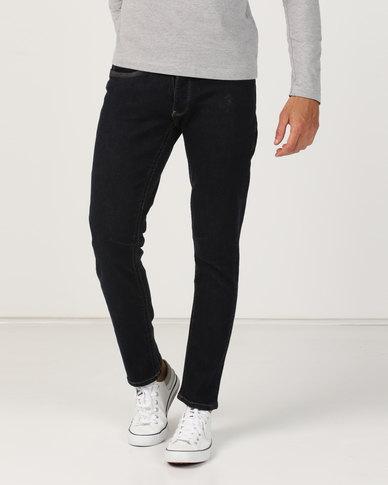 Crosshatch Balt Stretch Slim Fit Jeans Indigo Raw