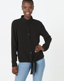 Brave Soul Long Sleeve Shirt Black
