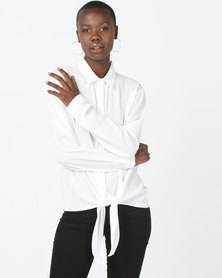 Brave Soul Long Sleeve Shirt White