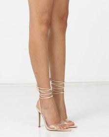 Public Desire Glamour Heels Nude Patent