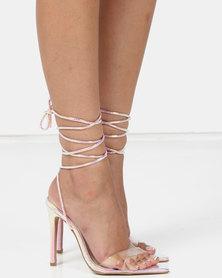 Public Desire Glamour Heels Pink Iridescent
