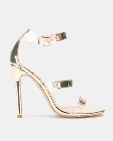 Public Desire Helios Heels Gold Mirror Patent