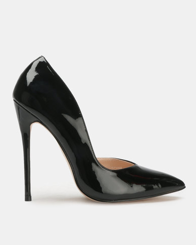 Public Desire Sachi Stiletto Heels Black Patent