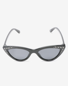 New Look Bella Bling Cateye Sunglasses Black