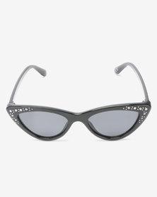New Look Bella Bling Cateye Sunglasses Black