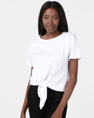 New Look Tie Front T-Shirt White