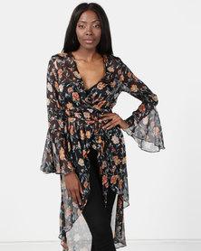 New Look Floral Printed Kimono Multi