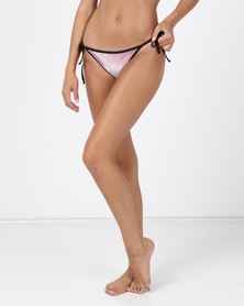 TracyB Swimwear Velvet String Bottom Pink
