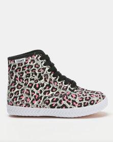Tomy Takkies Original Hi Top Print Leo Pink