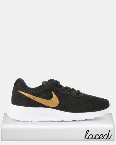 cd4099714251 Nike Tanjun Sneakers Black Metallic Gold
