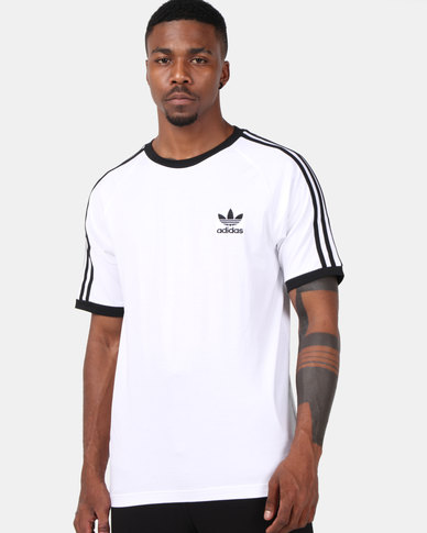 adidas Originals Mens Cali Tee White/Black