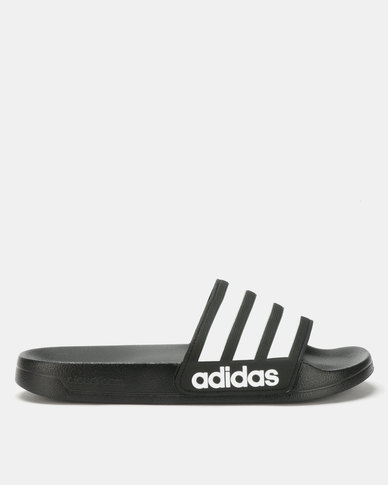 31b008a99 adidas Originals Adilette Shower Slides Black White