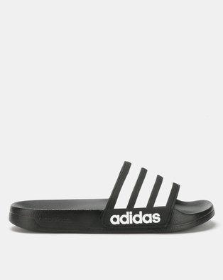 57d38d3646b2 adidas Originals Adilette Shower Slides Black White