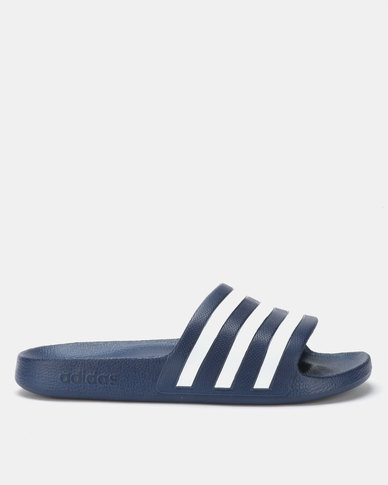 81130c3d3f05 adidas Originals Adilette Aqua Slides Blue White