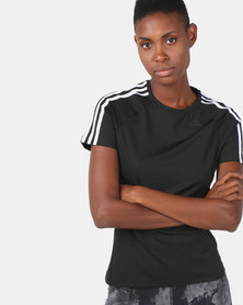 adidas Performance D2M 3S Tee Black