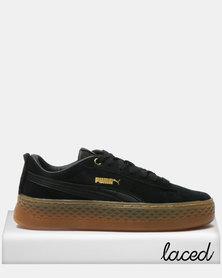 Puma Sportstyle Core Smash Platform Frill Sneakers Black/Gold