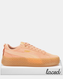 Puma Sportstyle Core Smash Platform Frill Sneakers Dusty Coral