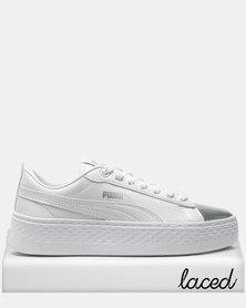 Puma Sportstyle Core Smash Platform LX Sneakers White/Silver