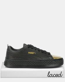 Puma Sportstyle Core Smash Platform LX Sneakers Black/Gold
