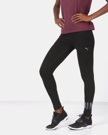 Puma Sportstyle Core Athletic Logo Leggings Black