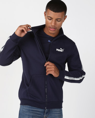 Puma Sportstyle Core Tape Track Top Navy