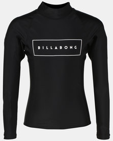 Billabong Boys All Day United Long Sleeve Rashguard Black