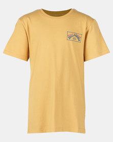 Billabong Arch Box Short Sleeve Tee Yellow